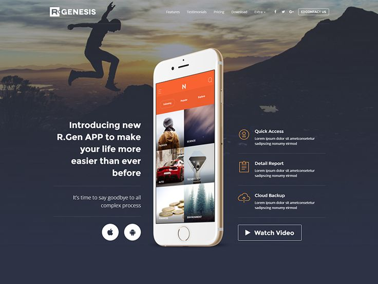 AppLead App Landing Pages by R.Genesis