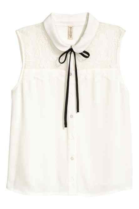 Mouwloze blouse
