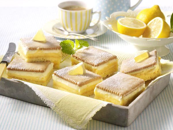 Zitronenschnitten vom Blech - so geht's - zitronenschnitten