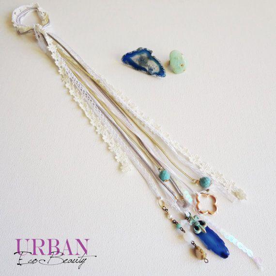 >> Video How To Wear << Mixed Thread Hair Wrap hippie bohemian style  by UrbanEcoBeauty, $33.00