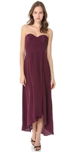Zimmerman burgundy bridesmaids dress