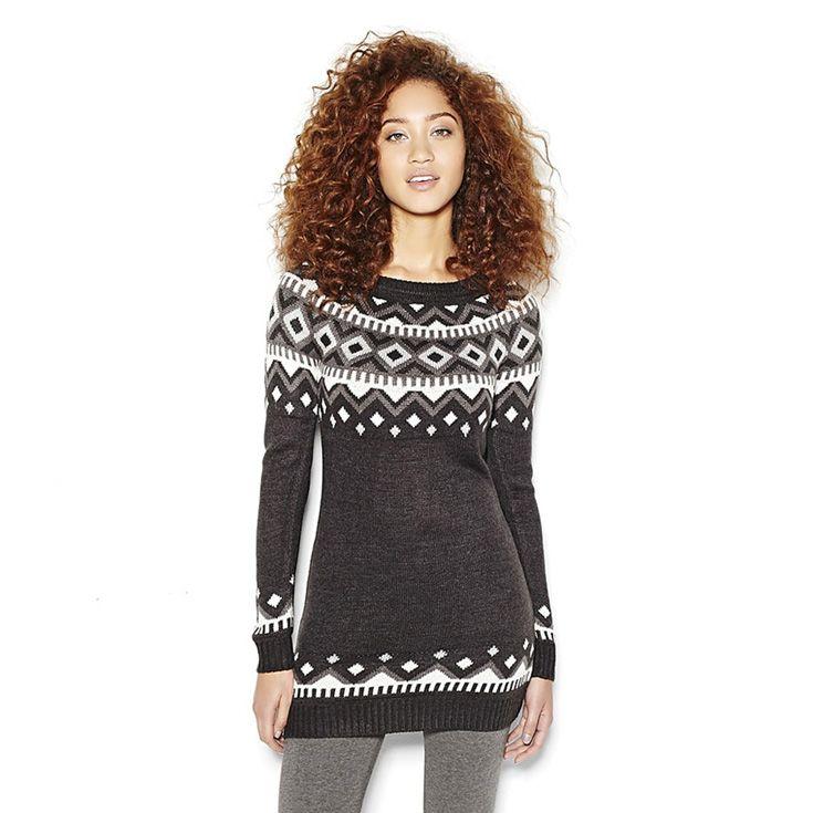 Jacquard Sweater Tunic.