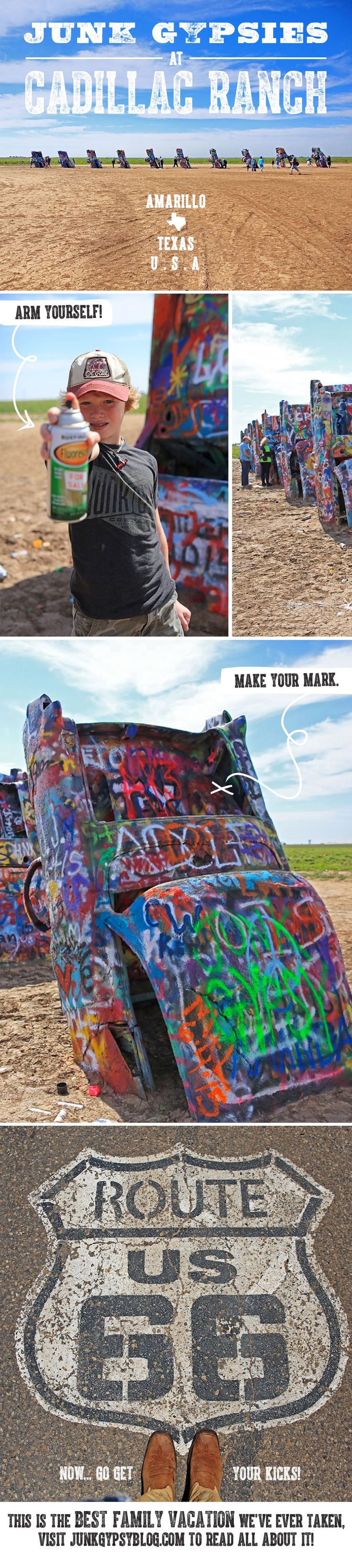 our ROUTE 66 road trip to Cadillac Ranch! {junk gypsy co}