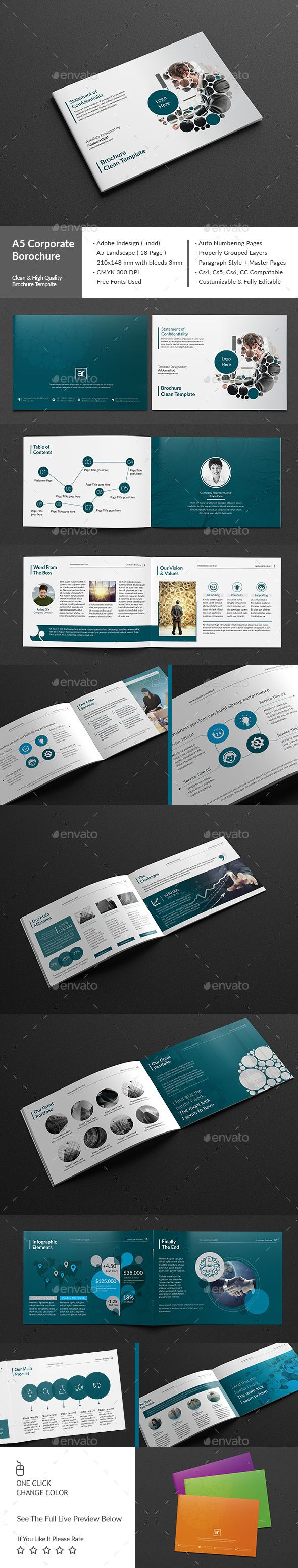 Clean Corporate brochure/report Template InDesign INDD #design Download: http://graphicriver.net/item/clean-corporate-brochurereport-template/14028310?ref=ksioks