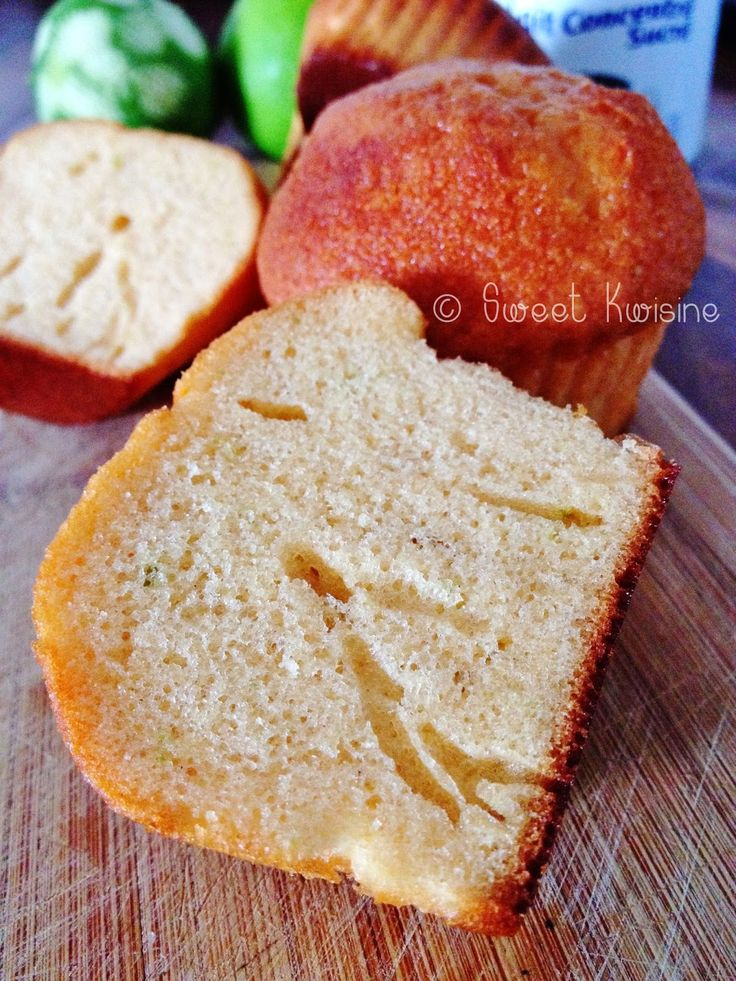 muffin au lait concentré sucré et citron vert