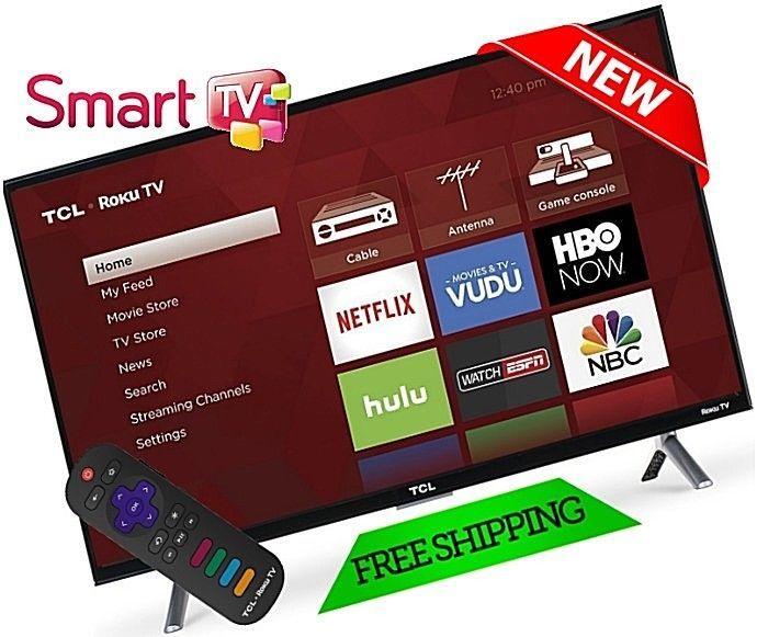 "Smart TV HD 28"" LED 720P HDTV TCL Flat Screen Monitor HDMI USB Slim Bezel New #TCL"