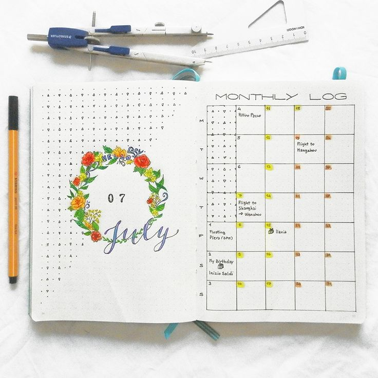 "itslahe: "" July monthly spread """