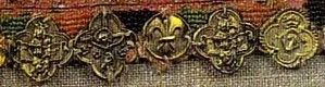 Example of medieval use of spangels on a belt. 14th century
