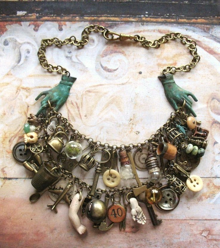 Romany Belle - Handmade Vintage Inspired Gypsy Bohemian Statement Charm Bib Necklace