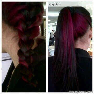 Half dark, half pink