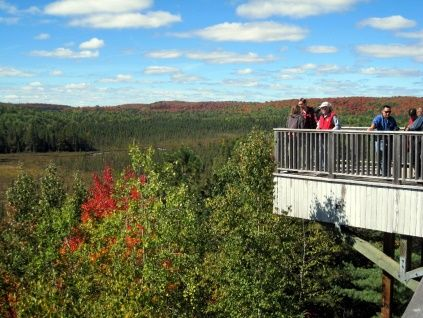 Algonquin Park Visitor Centre viewing deck
