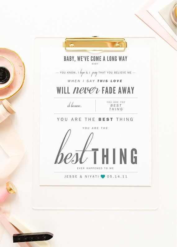 Gift Favourite Lyrics print Ray LaMontagne /'You Are The Best Thing/'