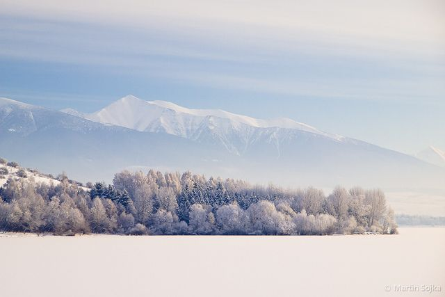 Winter Symmetry in the Cold Morning ~ Liptov, Slovakia by Martin Sojka, via Flickr