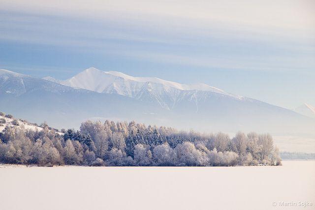 Winter Symmetry in the Cold Morning ~ Liptov, Slovakia by Martin Sojka, via Flickr