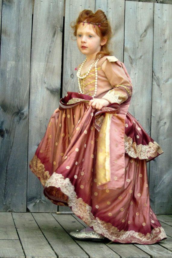 91651f06c1e3 Custom Elizabethan Childs Gown by nellicarave on Etsy. $299.00, via Etsy. | renaissance  kids | Renaissance dresses, Renaissance costume, Historical costume
