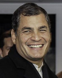 Rafael Correa, President of Ecuador since January 15, 2007. Correa was a close ally of Hugo Chávez. Ecuador's relationship with the United States has deterriorated considerably in recent years, since Correa took office in Ecuador, mostly due to his  growing relationship with Cuba, Venezuela, Bolivia and Iran. He did not renew United States Southern Command's lease of Eloy Alfaro Air Base in Manta, ending the U.S. presence at this military base in September 2009.