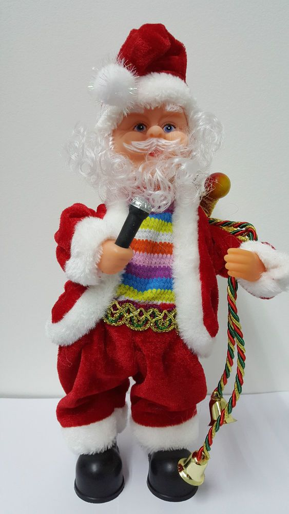 Christmas Singing Dancing Santa Gift Toy Xmas Novelty Decoration Music Disco Mic #UNBRANDED