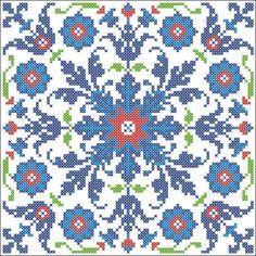 Iznik tile | Chart for cross stitch.
