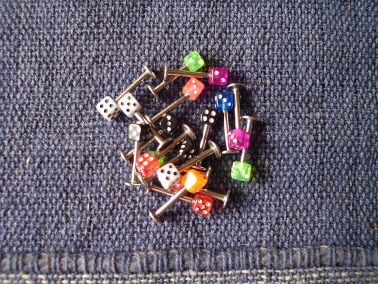 10 Lippenpiercings Würfel Piercing Lippe Set Piercingset Großhandel Paket Neu