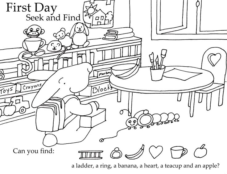 Free Printable First Day Of School Coloring Pages For Kindergarten : The 441 best images about preschool education fun on pinterest