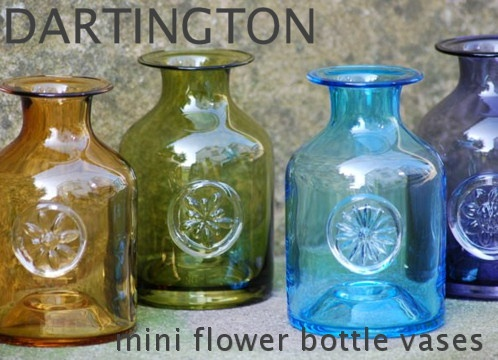 Dartington flower bottle vases