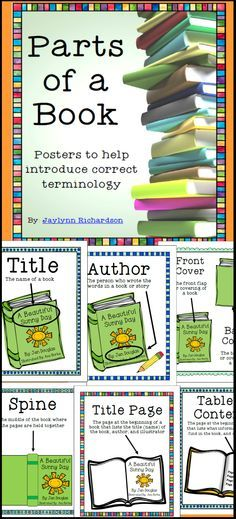 These are a *MUST-HAVE* for teachers or librarians! With simple, easy-to-read and easy-to-understand words and illustrations, these posters are eye-catching and perfect for display! Nine posters explain concept of TITLE, AUTHOR, ILLUSTRATOR, SPINE, FRONT COVER AND BACK COVER, TITLE PAGE, TABLE OF CONTENTS, BIBLIOGRAPHY, and INDEX.