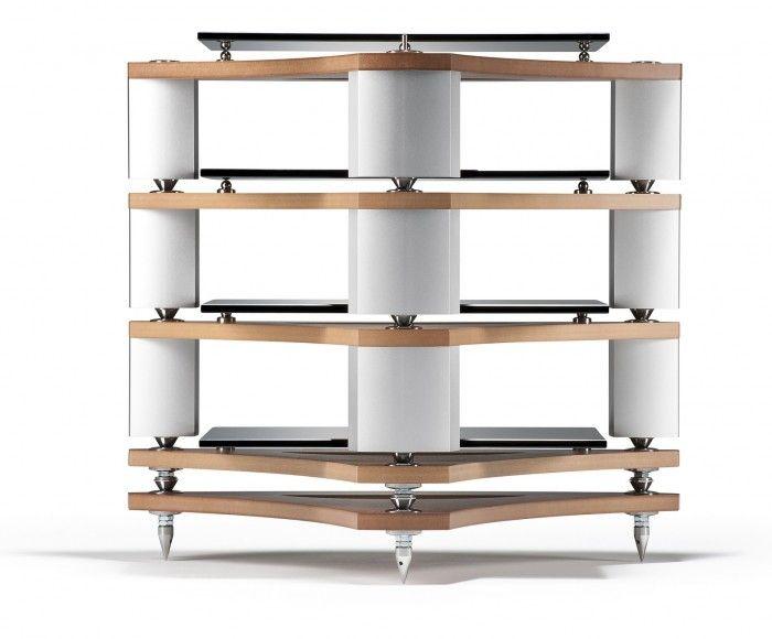 Mobili Per Impianti Hi Fi: Strutture in tubolare acciaio inox satinato ...