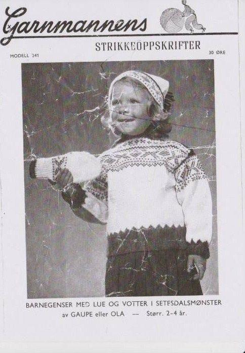 Barnegenser med lue og votter G 241 - Garnmannen