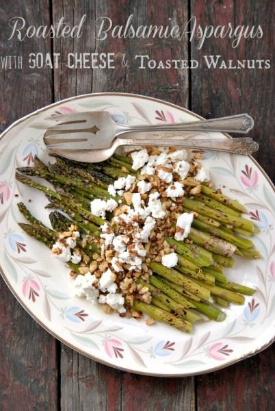 Roasted Balsamic Asparagus with Goat Cheese and Toasted Walnuts | Boulder Locavore