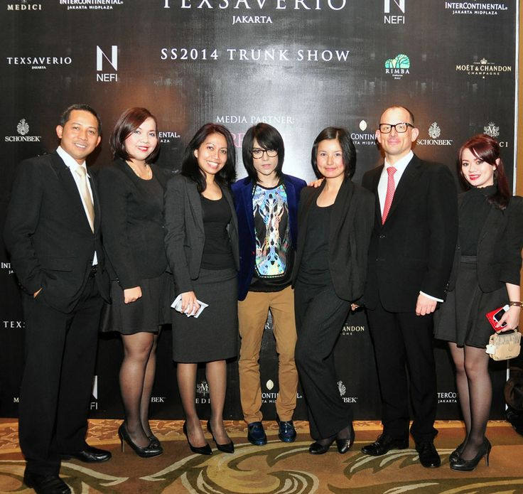 Mr. Tex Saverio with the hotel management team