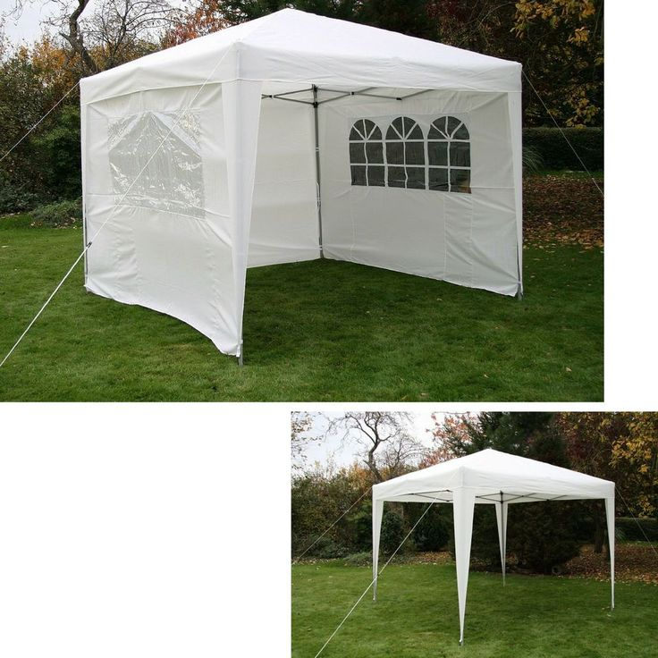 Garden Pop Up Gazebo White Canopy Tent Outdoor Patio Furniture Bbq Gazebos  Event In Garden U0026