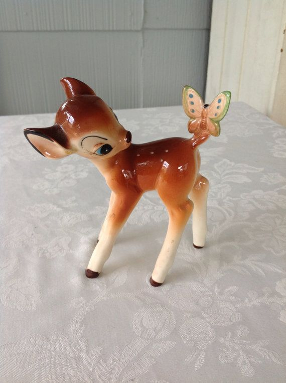 Vintage Bambi Disney Figurine Made in Japan on Etsy, $42.00