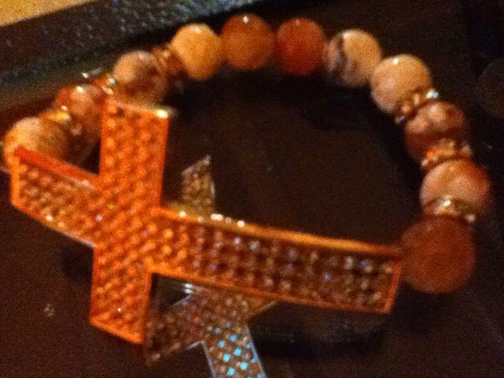 $8.00 rhinestone bracelets brown