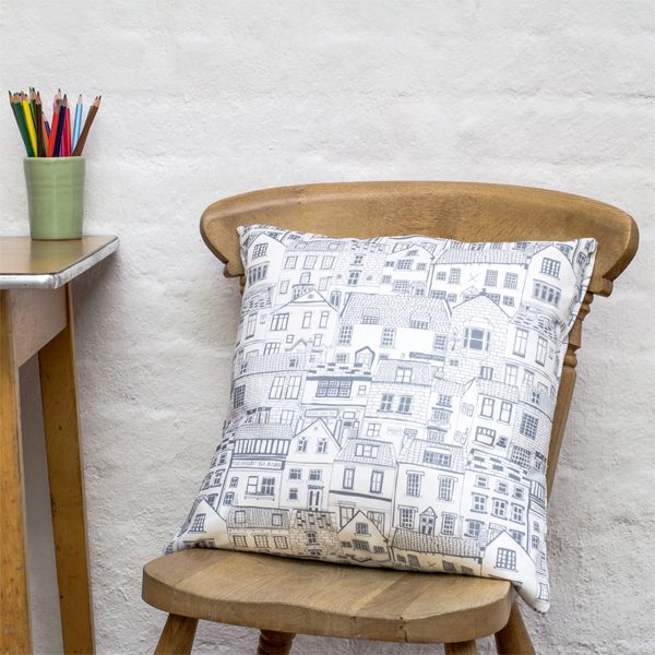 coastal cottages cushion, £32.00