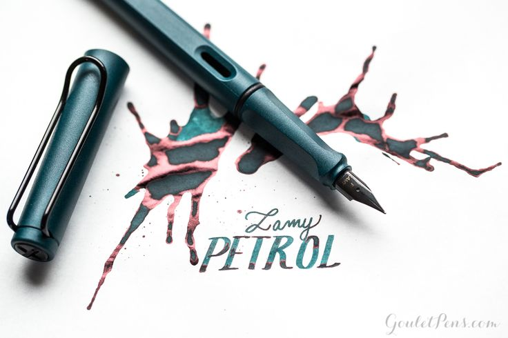 """This 2017 special edition Lamy Safari fountain pen in matte Petrol dark teal has black trim, a black steel extra-fine nib, and comes with a blue ink cartridge to get you started writing right away!<span style=""""font-size: 13px;"""">You can also purchase a Lamy Z28 converter to use bottled fountain pen ink (sold separately).</span>"""