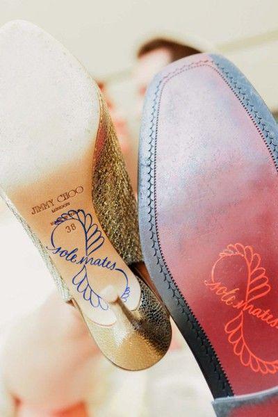 Scarpe sposa suole personalizzate scritta. Wedding shoes sole with stickers #wedding