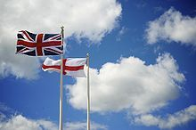 union jack and st george's cross