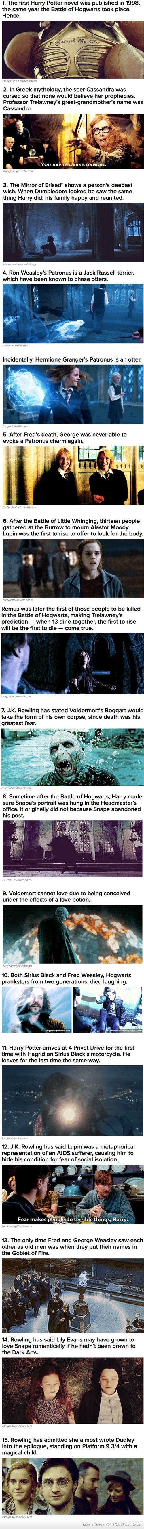Stuff You Might Not Have Known About Harry Potter