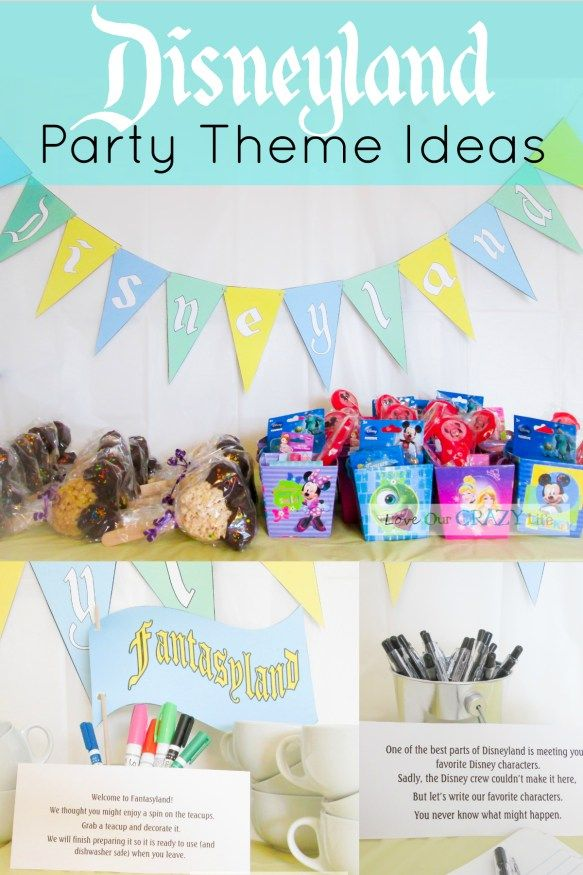 Throw a Disneyland themed party that makes guests feel like they actually visited the park