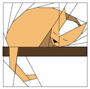 Sleeping Cat Free Paper Piecing Pattern