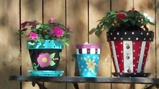 Painted Clay Pots