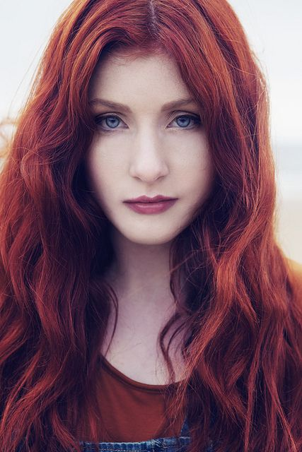 by Gareth Rhys, via Flickr    Love the red hair and blue eyes with natural looking make up.