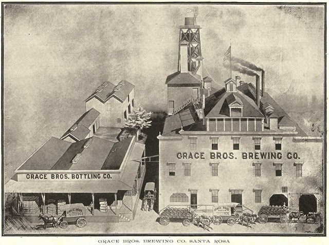 Grace Brothers Brewery, up to 1966 - Santa Rosa, CA