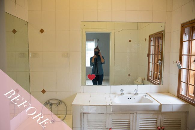Blogger Emma-Jane Nation recently renovated her two bathrooms. Check out the before picture of bathroom one.
