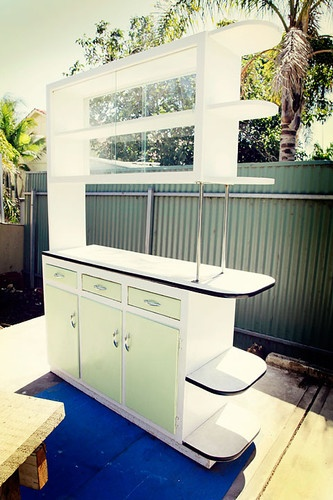 Love the tin fence  Retro Furniture  159 best Vintage Kitchen Dressers Cabinets images on Pinterest  . Second Hand Kitchen Units For Sale Ebay. Home Design Ideas