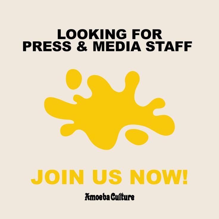 [Amoeba Culture] 아메바컬쳐에서 언론홍보 파트 수습(인턴)사원을 모집합니다. 음악을 사랑하고 대중 문화 전반에 대한 관심과 열정을 가진 여러분의 많은 지원 바랍니다.  자세한 내용은 아메바컬쳐 홈페이지를 통해 확인하세요.  https://goo.gl/cqlVbu