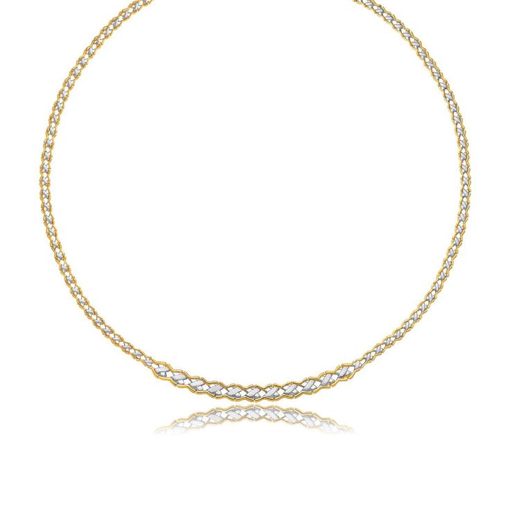 Two-Tone Chic X Necklace - 14k Two-Tone Gold