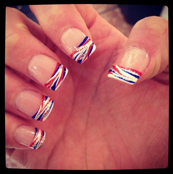 Let's Go Buffalo!!! Buffalo Bills nails for the home opener!!