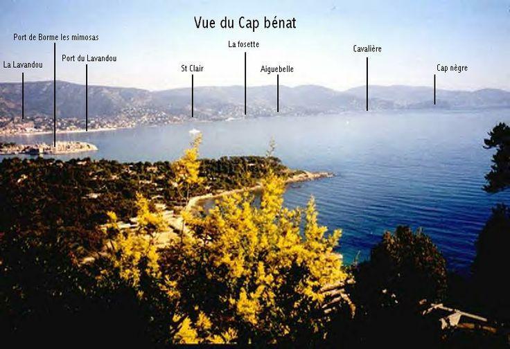 Vue du domaine du cap Benat, France, mère méditerranée ...