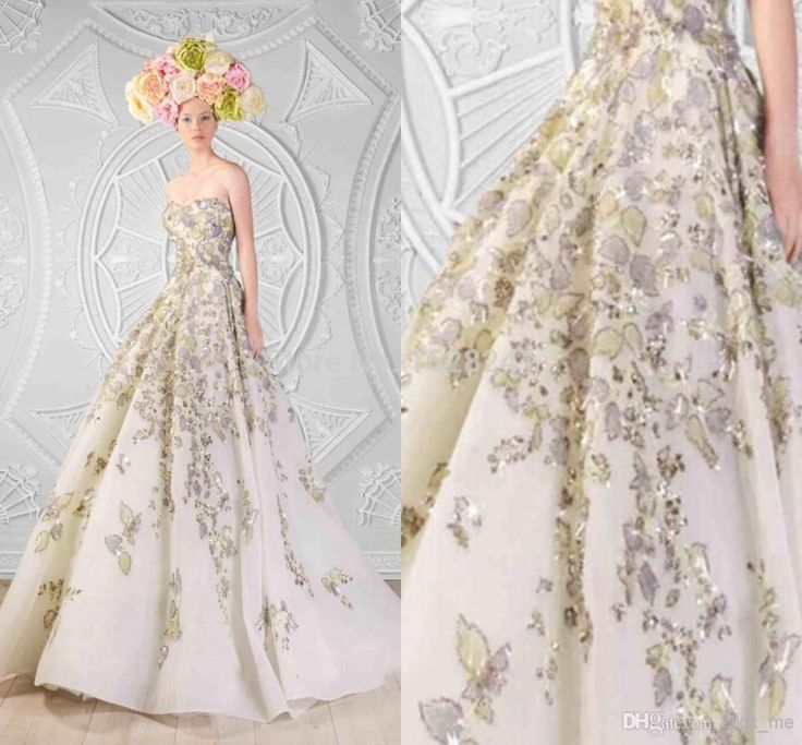 Encontrar Más Vestidos de Noche Información acerca de 2015 Rami Kadi novia sin tirantes de noche de impresión perlas cristales acanalada de longitud de espalda abierta Maxi vestido de noche cristal, alta calidad dress prints, China gown prom dress Proveedores, barato dress minnie de True Love Bridal dress Co., Ltd.  en Aliexpress.com